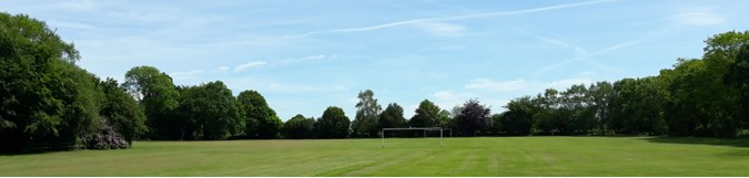 panoramic view of football field