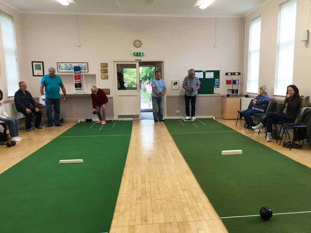 Bowls in the village hall